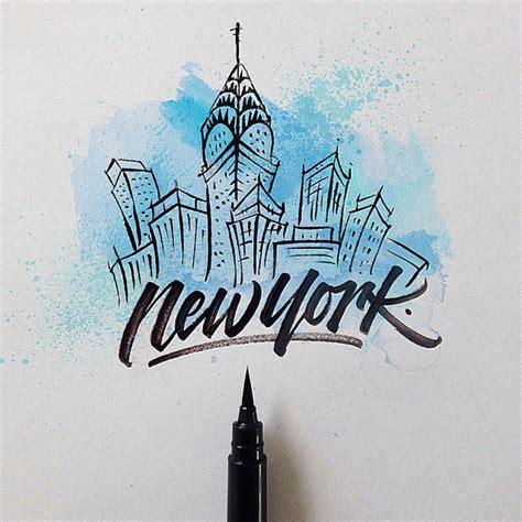 york brushpen calligraphy david milan typography