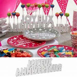 Deco Bonbon Anniversaire : candy bar d co bar bonbon th me joyeux anniversaire d co de table ~ Melissatoandfro.com Idées de Décoration