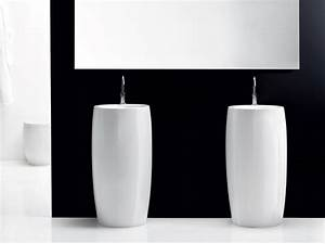 Vasque totem lavabo sur colonne consobricocom for Vasque totem salle de bain