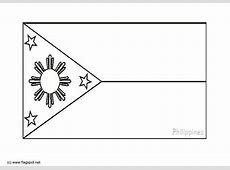 Coloring page flag the Philipines img 6278