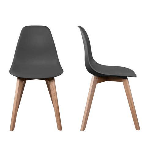 chaise pied en bois chaise stokholm gris pieds bois lot de 2 chaise design