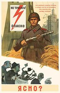 Soviet anti-American posters. DANGER: Do not touch. Soviet
