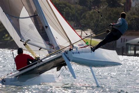 Skiff Versus Boat by Catamaran Vs Skiff Showdown At The Sydney Flying Squadron