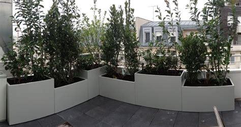 jardini 232 res sur mesure en m 233 tal thermolaqu 233 moderne pot et jardiniere d exterieur