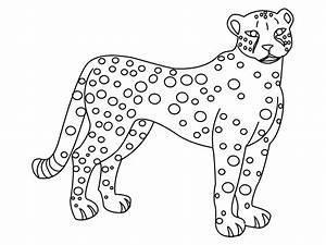 Dessin Jaguar Facile : gu pard 29 animaux coloriages imprimer ~ Maxctalentgroup.com Avis de Voitures