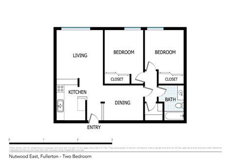 2 Bedroom Apartment Floor Plan by Floor Plans Of Nutwood Apartments In Fullerton Ca