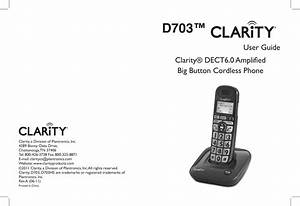 Clarity D703 Users Manual