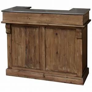Bar En Bois : style ancien bar comptoir en bois de pin recycl et zinc 120 cm achat vente meuble bar style ~ Teatrodelosmanantiales.com Idées de Décoration