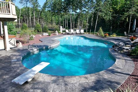 pic of pool mountain lake shaped inground pools cannon pools and spas