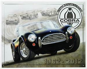 50th Anniversary Shelby Cobra Tin Metal Sign Roadster Hot Rod