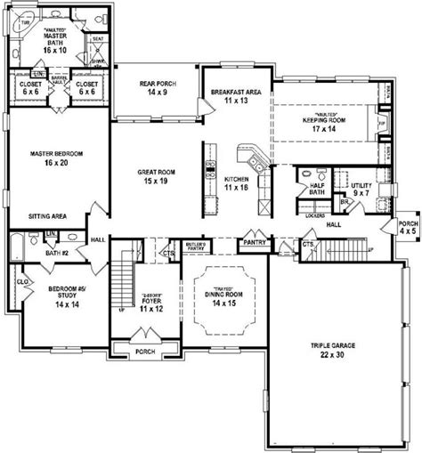 1 open floor plans 654732 4 bedroom 4 5 bath house with open floor plan