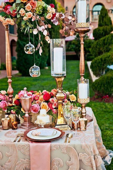 40 Rose Gold Metallic Wedding Color Ideas Gold wedding