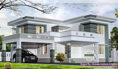 2875 square flat roof home unique house plans