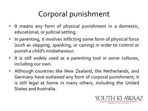 corporal punishment consent form corporal punishment