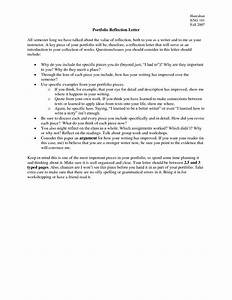 best photos of writing portfolio introduction sample With reflection letter