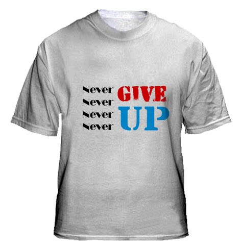 """The most popular new york shirt. T-shirt design """"Never Give UP"""" 