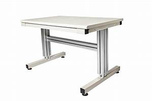 2 Leg Manual Adjustable Height Work Table