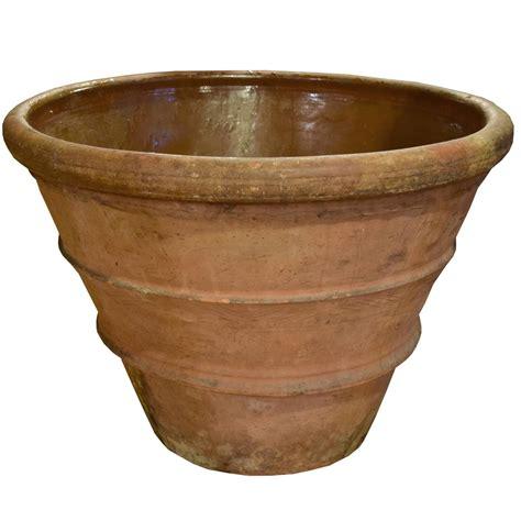 terra cotta planters large italian terra cotta pot at 1stdibs