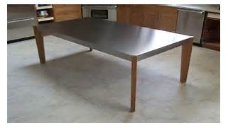 Kitchen Table On Round Kitchen Tables Home Design Ideas For Small The Pros And Cons Of Stainless Steel Countertops Five Star Stone Inc Table Stainless Steel Stainless For Stainless Steel Kitchen Table Top Table Island Steel Kitchen Table For Stainless Steel Kitchen Table Top