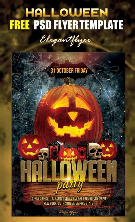 psd halloween party flyer designs  vector eps ai