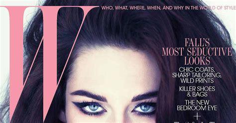 Kristen Stewart W Magazine Cover Popsugar Celebrity