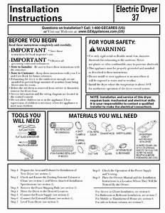 Hotpoint Nbxr463eb3ww Electric Dryer Installation Guide