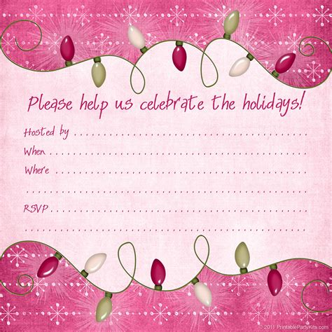 printable christmas invitations free printable christmas and holiday party invitations