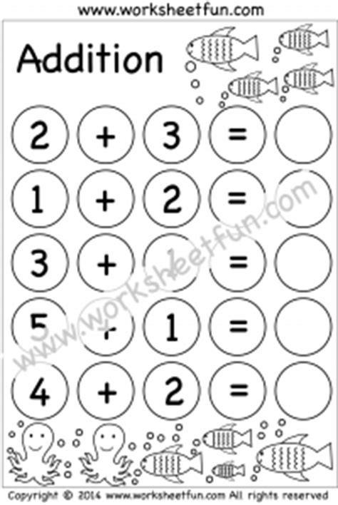 kindergarten addition worksheets beginner addition