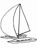Catamaran Bateau Coloriage Voiture Avion Moto Coloring Template Sketch sketch template