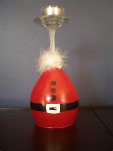 items similar to santa wine glass candle holder on etsy