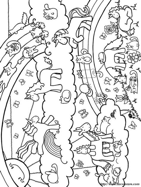 colorare unicorno disegno  insieme  unicorni
