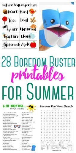 28 Boredom Buster Printable Activity Sheets The