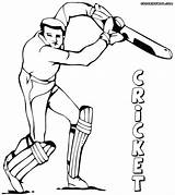 Cricket Coloring Pages Game Results sketch template