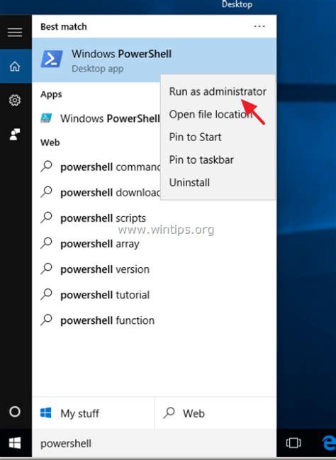how to fix start menu cortana settings and taskbar issues on windows 10 wintips org