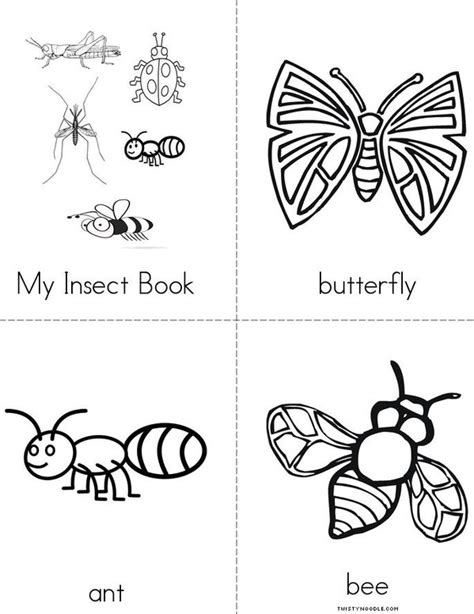 my insect book twisty noodle 391 | my insect book minibook 4 sheet pg1 jpg 600x776 q85