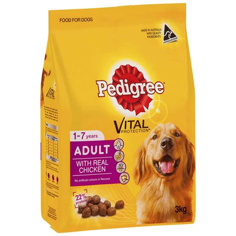 pedigree vital protection  real chicken   years