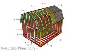 12x16 gambrel shed roof plans myoutdoorplans free woodworking plans and projects diy shed
