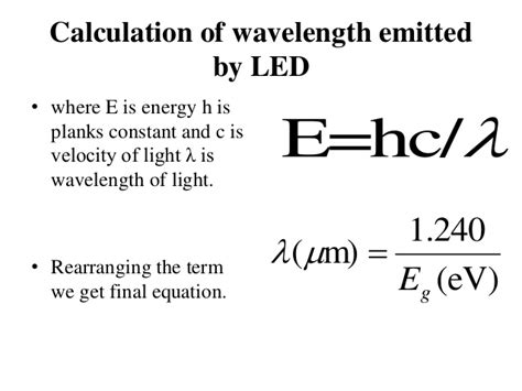 Energy Of Light Equation by Led Laser Sources Of Light