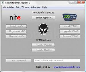 Xbmc repository installer for Nito installer available for windows to install xbmc on jailbroken apple tv 2