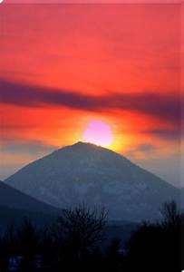 Snow Mountain Sunset - Sunset Prints by fursa - Shop ...