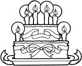 HD wallpapers coloring page of a birthday cake
