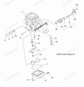 Polaris Atv 2008 Oem Parts Diagram For Engine  Carburetor