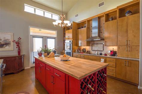 orange kitchen island 60 kitchen island ideas and designs freshome 1219