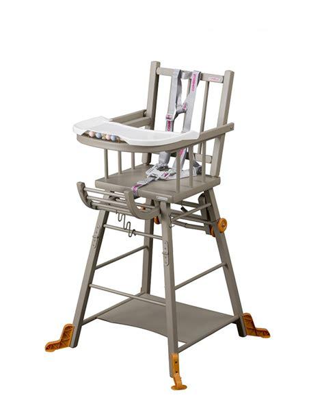 chaises haute chaise haute marcel transformable laquée gris clair