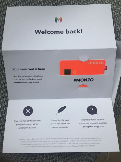 image result  monzo bank packaging