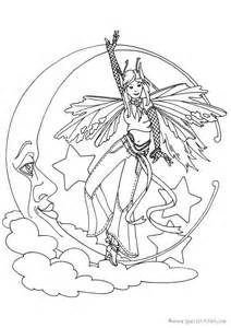 Free Fairies Coloring Pages