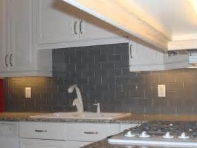 Gray Backsplash Kitchen Gray Glass Backsplash 3x6 New Jersey Custom Tile