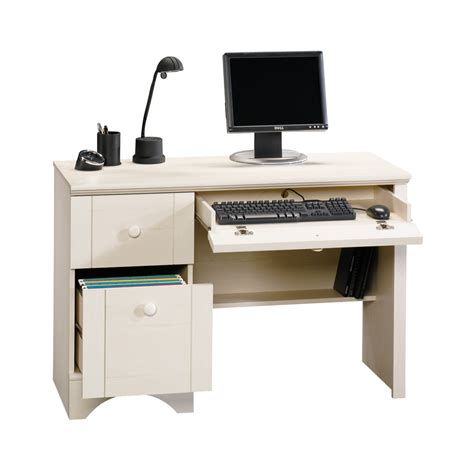 white and wood desk white computer desk office home study dorm bedroom