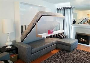 murphysofa sectional wall bed float expand furniture With bed that comes out of wall