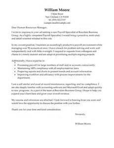 resume description for accounts payable clerk interview leading professional payroll specialist cover letter exles resources myperfectcoverletter